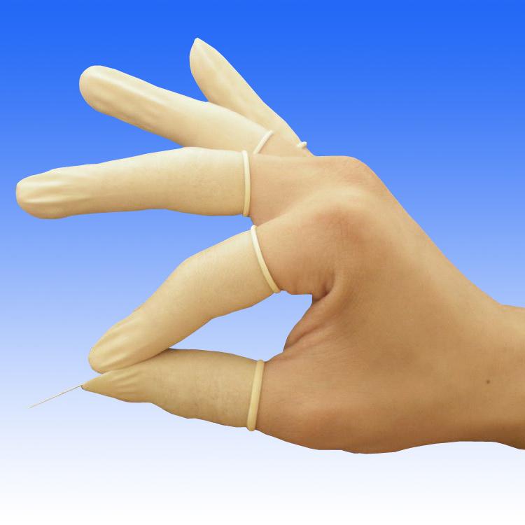 Renic FCLR05 净化防静电卷边乳胶手指套米黄