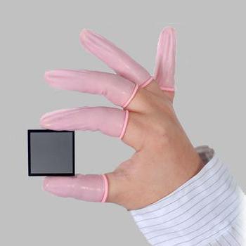 Renic FCLR05 净化防静电卷边乳胶手指套粉红